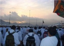 Walking from Mina to Arafat